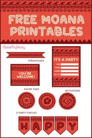Free Templates For Invitations Birthday Inspiration Free Disney Moana Printables For Birthday Parties Catch My Party