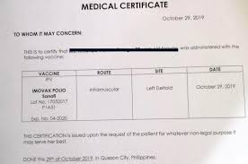 Traveling You May Need To Get A Polio Vaccine Certificate