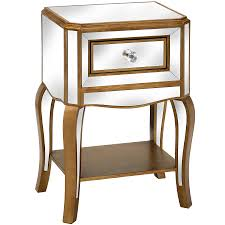 mirrored side table. Venetian Mirrored Side Table With Drawer O