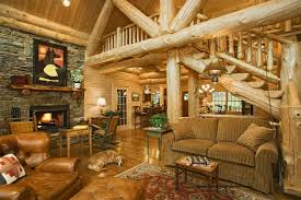 Log Home - Edenfield traditional-living-room