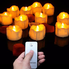 Lighting Candles Flickering Led Candle Lights With Remote Controller Pack Of 12 Pcs