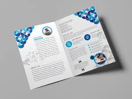 2 Folded Brochure Template Fancy Bi Fold Brochure Template 000723 Template Catalog