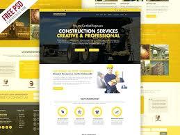 Construction Website Templates Amazing Construction Company Website Template Free D Cool Templates School