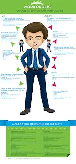 The Do S And Don Ts Of An Interview Infographic 100 Job Interview Dos And Donts Workopolis Blog