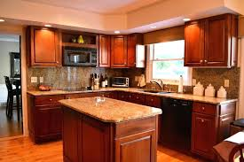 warm kitchen color schemes image of kitchen color schemes with dark cabinets cherry wood kitchen cabinets