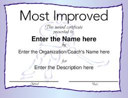 27 Images Of Most Improved Certificate Template Free