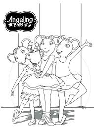 Small Picture Angelina Ballerina and Friend Having Fun Together Coloring Pages