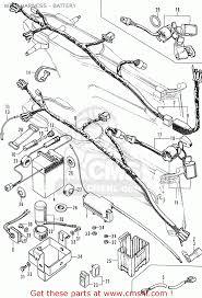 Honda st50 dax germany wire harness battery schematic partsfiche