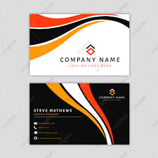 Company Backdrop Design Modern Business Card Template With Abstract Design