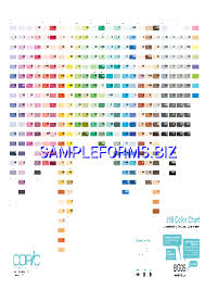 Ping Color Chart Code Ping Color Code Chart Pdf Free 1 Pages