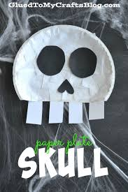 best ~halloween kids crafts images halloween  paper plate skull kid craft
