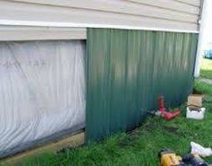 Mobile Home Metal Skirting  Underpinning  How To Install Decorative Mobile Home Skirting