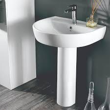 round pedestal sink. Beautiful Pedestal Bathroom Sink CeraStyle 007800UPED Round White Ceramic Pedestal Sink And F