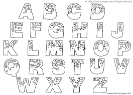 Alphabet Colouring Pages For Kindergarten Alphabet Coloring Pages