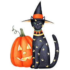 Image result for halloween cat clipart  gif