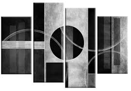 bianco nero abstract canvas wall art print 4 panel black white grey 40 inch 101cm on canvas black and white wall art with bianco nero abstract canvas wall art print 4 panel black white grey