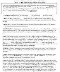Rental Lease Agreement Forms | Nfcnbarroom.com