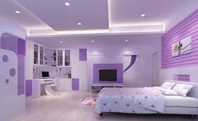 ideas charming bedroom furniture design. Extraordinary Charming Bedroom View With White Marble Floor Purple Nuance Painted Walls Flatt Screen Tv And Ideas Furniture Design B
