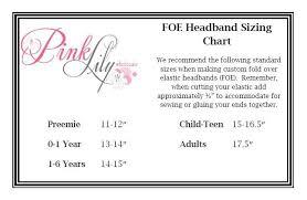 Elastic Headband Size Chart Make Your Own Baby Headband
