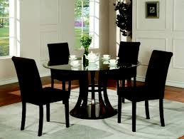 furniture astonishing dining room decoration using mini small modern black fabric chair including round gl table