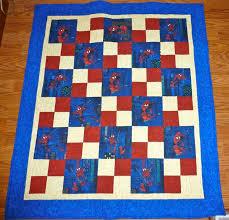 82 best Spiderman Quilts images on Pinterest   Spiderman, Curves ... & spiderman quilt pattern idea - no tutorial Adamdwight.com