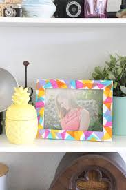 this tissue paper frame is perfect for whipping up quickly and adding color to your home