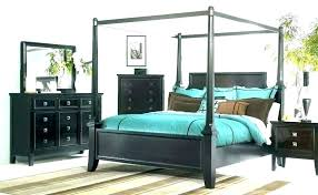 Wrought Iron Canopy Bed Queen King Size Frame Bedroom Sets Four ...