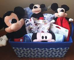 mickey mouse baby gift basket for the disney baby