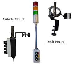 cubicle lighting. tripod cubicle or desk mount andon assemblies lighting