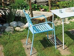 white metal outdoor furniture. Taormina Metal Garden Chair In Green Blue Or White Finish Outdoor Furniture
