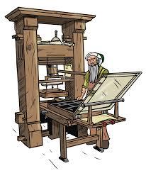 Mise Au Point De L Imprimerie Par Gutenberg Dessin De Vincent