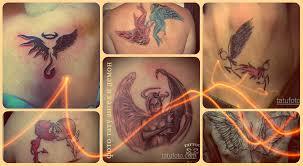фото тату ангел и демон примеры интересных готовых татуировок
