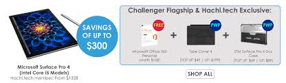 Microsoft Specials Microsoft Surface Pro 4 Bundle Deals Hachi Tech