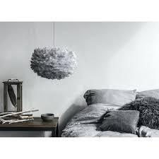 feather pendant light shade medium lampshade grey nz