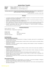 Supply Chain Management Resume Beautiful 25 Warehouse Manager Resume