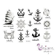 Nalepovací Tetování Námořník Kotvy