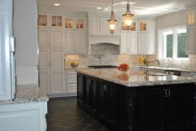 Two Tone Kitchen Cabinets Dark Kitchen Island With White Cabinets Quicuacom