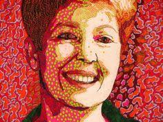 Quiltar rostos | Quilts portraits | Pinterest | Quilt art, Free ... & Self portrait done with Kaffe Fassett fabric Adamdwight.com