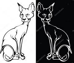 Kočka Tetování Stock Vektor Mur34 4853848