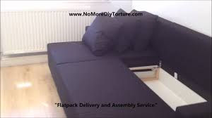 IKEA Lugnvik Corner sofa bed with storage YouTube