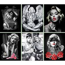 Free Marilyn Monroe Embroidery Designs Us 5 13 43 Off 5d Diy Diamond Painting Cross Stitch Celebrity Marilyn Monroe Tattoo Beauty Picture Gifts Diamond Embroidery Mosaic Home Decor In