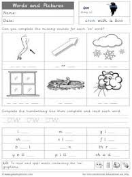 Long vowel worksheets that help kids learn the long vowel sounds of a, e, i, o and u. Ow Long O Phonics Worksheets And Games Galactic Phonics