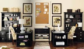 home office decor ideas. Magnificent Interior Office Decoration Ideas With Double Desks And Bookshelves Home Decor
