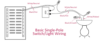 Extending Light Switch Cable Electrical Basics Wiring A Basic Single Pole Light Switch