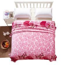Pink Floral Throw Blanket
