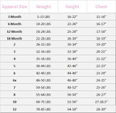 Girls Size Chart 47 Best Baby Toddler And Childrens Clothing