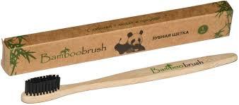 Bamboobrush <b>Зубная щетка из бамбука</b>, щетина с угольным ...