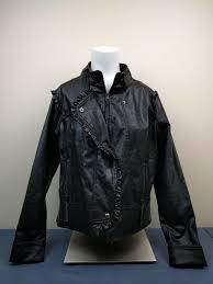 details about apple bottoms womens faux biker zip upcoat faux leather jacket size l large