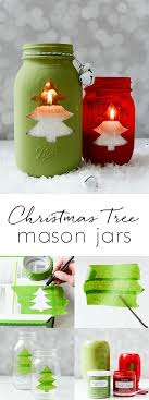 Christmas Tree Mason Jar Votive  Mason Jar Crafts LoveChristmas Crafts 2017