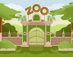 zoo entrance clip art. Perfect Entrance Image Of A Colurful Zoo Gate Illustration In Zoo Entrance Clip Art E